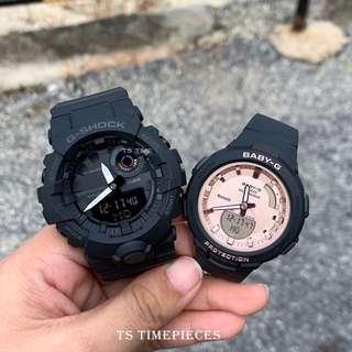 ❤️ Casio G Shock & Baby-G G-Squad Bluetooth Couple Set Watch GBA-800-1 BSA-B100MF-1