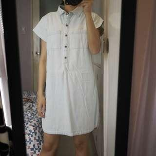 Old Navy Light Wash Denim Collared Dress