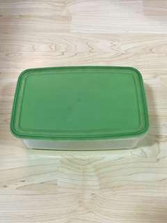 CLEARANCE SALES {Kitchen Accessories - Plastic Container} Pre-owned Transparent Container/Storage Come With Green Colour Cover