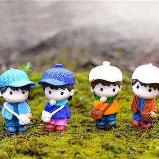 Terrarium Figurines / Terrarium Cute Boy / Miniature Boy / Boy Figurine