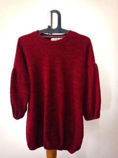 knits maroon tops import