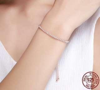 Rose Gold Sterling Silver Lace-Up Bracelet