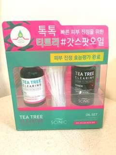 SCINIC Tea Tree Clearing Oil Set 茶潔潔面套裝