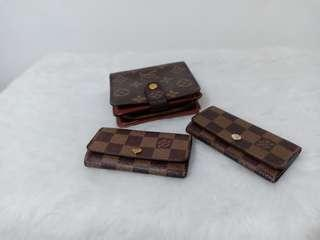 Louis Vuitton wallet and key holders