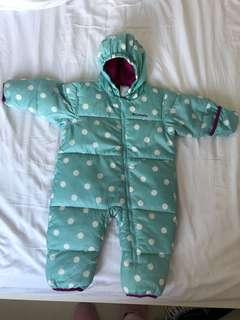 Columbia down filled snow suit