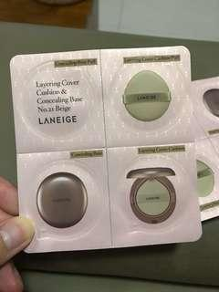 BNIP Laneige Layering Cover Cushion & Concealing Base No. 21 Sample Pack