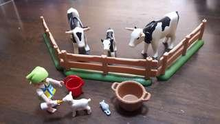 Playmobil assorted sets - cows and lamb