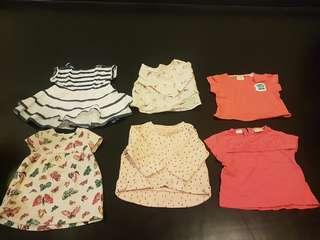 Zara and Petit Bateau Girls Baby Clothes
