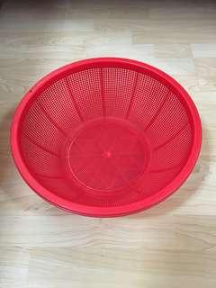 Closing Down Sales {Kitchen Accessories - Plastic Tray} Used Plastic Red Colour Tray For Sales