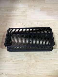 Closing Down Sales {Kitchen Accessories - Plastic Tray} BN Multipurpose Stackable Black Colour Tray For Sales