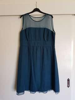 Deep teal cocktail dress EU size 44