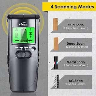 P12 Stud Finder Wall Scanner - 3 in 1 Electric Multi Function Wall Detector Finders with Digital LCD Display, Center Finding Stud Sensor & Sound Warning for Studs/Wood/Metal/Live AC Wires Detection