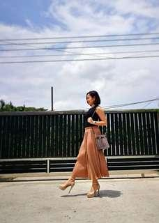 Pleated Culottes - Khaki Brown #MHB75