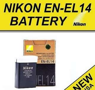 4🔥Nikon EN-EL14 Rechargeable Li-Ion Battery for Select Nikon DSLR Cameras