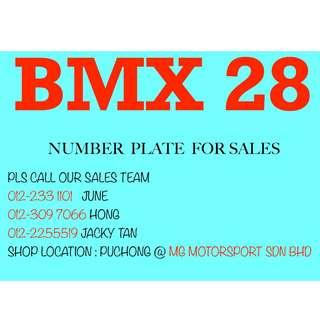 BMX28 NUMBER PLATE