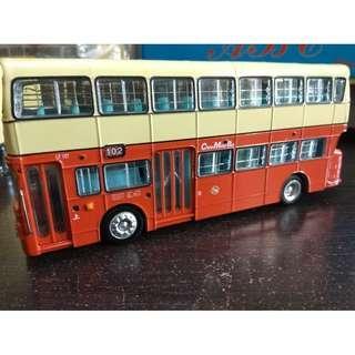 全新有盒有證書中巴中華巴士LF107丹拿珍寶102號線巴士模型