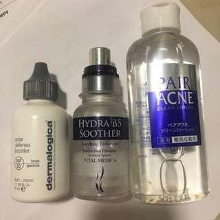 Dermalogica solar defense sunscreen Bobbi brown serum B6 pair acne
