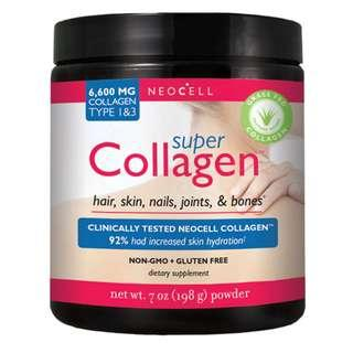 🚚 Neocell Super Collagen Type 1 3 7 oz (198 g) 30 Days Supply