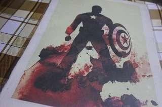 CAPTAIN AMERICA RICE PAINTING