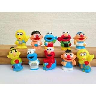 [FREE MAIL!!!] SESAME STREET Figures / Figurines / Cake Toppers / Toys
