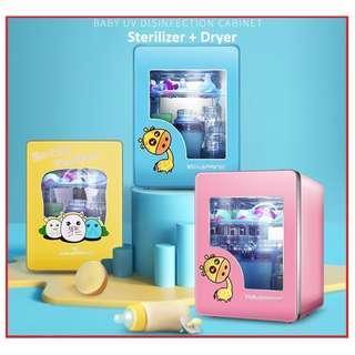 8L Newborn Sterilizer +dryer+ warm Baby Bottle holder storage Sterilizer With Drying UV Sterilizer
