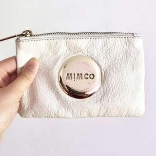 MIMCO WHITE AND GOLD POUCH