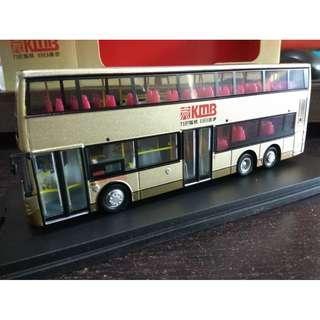 全新有盒有證書九巴丹尼士Enviro 500超直巴士12米1號線巴士模型