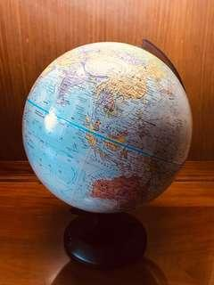 Plastic globe, educational