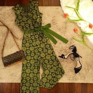 Green Lace Jumpsuit