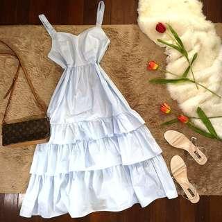 Baby blue tier dress