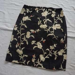 Women's Classy Zip Up Flower Skirt