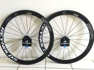 Reynold Forty Six SLG Clincher Carbon Wheelset w/ DT Swiss 240s hubs