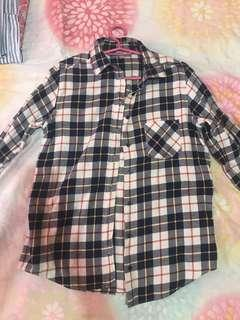 Uniqlo plaid polo shirt