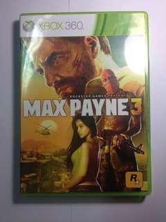XBOX 360 GAME CD MAX PAYNE 3 ROCKSTAR GAMES