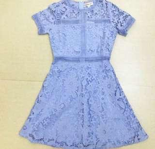 Self Portrait style Lace Dress (light blue) 100% New! very beautiful! 喱士裙!不是 Bread n Butter! (Size  Suitable for : S-M) (Original price $799‼️ 原價) 未拆牌