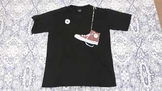 Converse themed Black Shirt