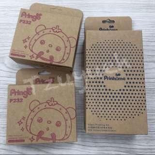 🚚 Pringo p232相紙2*3(108張+一組色帶)/prinhome相紙4*6(60張+一組色帶)