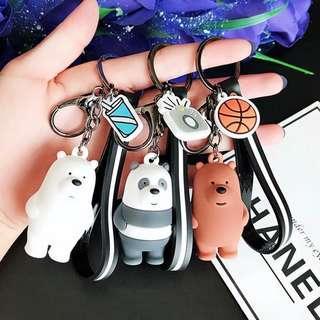 We Bare Bears Keychain (Grizz)