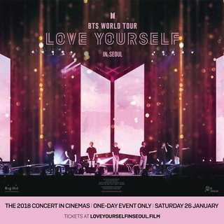 BTS LOVE YOURSELF TOUR IN SEOUL TICKET SERVICE