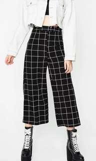 🍒ulzzang grid culottes