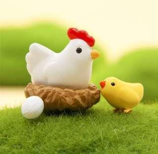 Terrarium Hen Chick Nest Egg / Terrarium Accessories / Terrarium Animals / Miniature Hen Chick Nest Egg