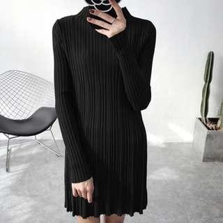 🚚 微高領針織洋裝