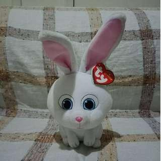 ty Beanie Babies The Secret Life of Pets Snowball Rabbit Stuffed Toy