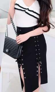 Black split Dress