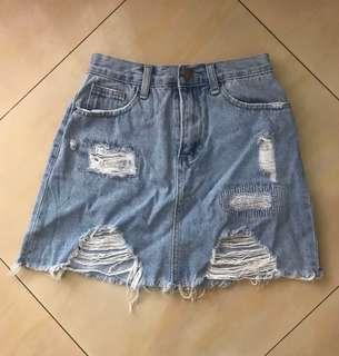 SOMETHING BORROWED Denim Skirt