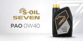 S-OIL PAO 0W40 FULLY SYNTHETIC (4L)