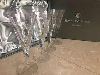 Royal Doulton Crystal Wine Goblets