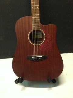 Ibanez PF12MHCE-OPN cutaway dreadnought body style acoustic guitar