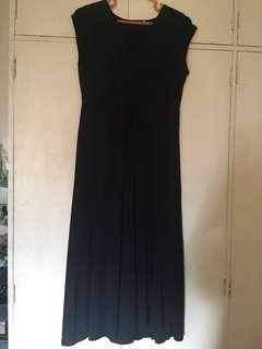 SM Woman Long Black Formal Maternity Dress, Medium