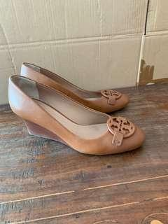 Tory Burch Miller Leather Wedge